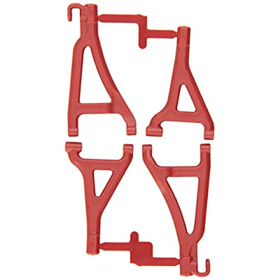 RPM 80699 Front Upper/Lower A-Arms Red 1/16 E-Revo Red: Toys & Games