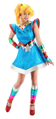 elope Rainbow Brite Costume, Multi-Colored, Small/Medium - 1980s Cartoon Characters Costumes
