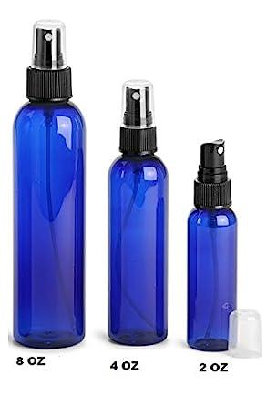 Amazon.com: 8 oz de plástico Pet botella de bala (Azul) con ...