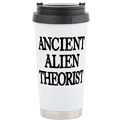 CafePress Ancient Alien The Stainless Steel Travel Mug, Insulated 16 oz. Coffee Tumbler