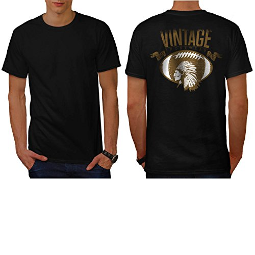 [Red Indian Face Sport Vintage Men NEW L T-shirt Back | Wellcoda] (Out Of Your League Costumes)