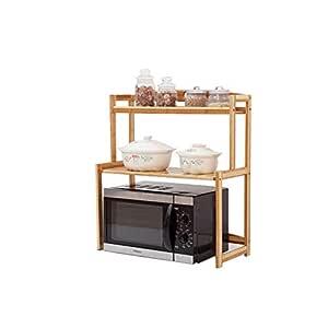 Horno de microondas Rack de bambú Bamboo Desktop Horno de ...