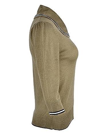 Küstenluder Damen Oberteil Neni Sailor Pullover Grün XL