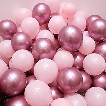 Amazon.com: Globos de color rosa y dorado, 50 unidades de ...
