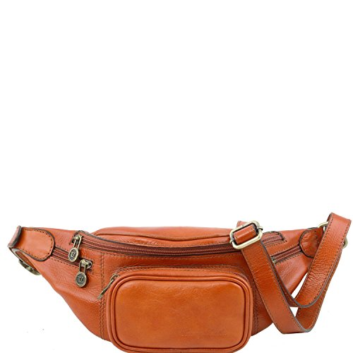 Tuscany Leather - Leather Fanny Pack Honey - TL141305/3 by Tuscany Leather