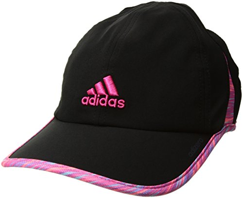 adidas Women's Adizero II Cap, Black/Twister Shock Pink/Shock Pink, One - Cap Womens Running