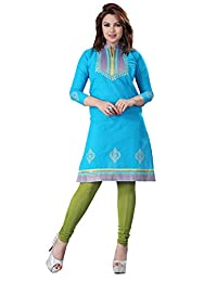 Indian Tunic Top Womens Cotton Long Kurti Blouse India Clothes