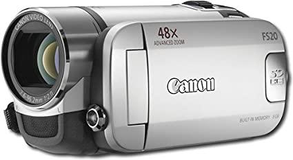 amazon com canon fs20 8gb digital video camcorder silver camera rh amazon com