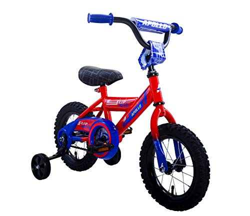 Apollo FlipSide 12 inch Kid's Bicycle, Ages 2 to 4, Height 24 – 38 inches, Red/Blue