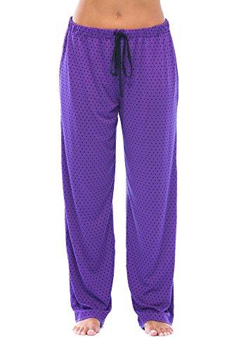 (6332-PLM-2X Just Love Women Pajama Pants - PJs - Sleepwear, Plum With Black Dots, 2X Plus)