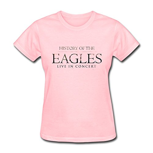 ZYX The Eagles Band History Of The Eagles Tour 2015 Fan Logo T Shirt For Women Pink XXL