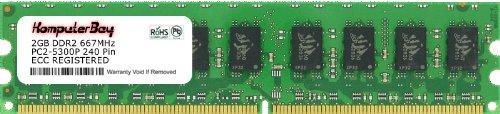 (Komputerbay 2GB 1X2GB PC2-5300 DDR2-667MHz ECC Registered CL5 240-Pin DIMM Memory Module 2 GB)