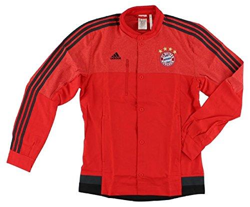 Adidas Bayern Munich Anthem Jacket (Red, Dark Gray, Black) Xxl