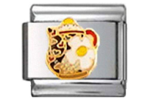 TEA TEAPOT CLOISONNE Enamel Italian Charm 9mm Link - 1 x FO033 Single Bracelet Link