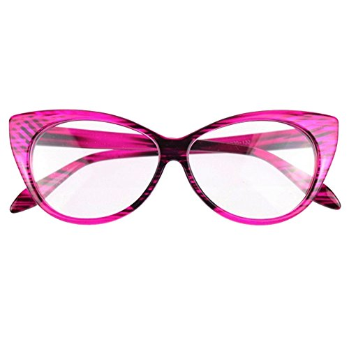 Afco Women's Vintage Sex Cat-Eye Shape Plain Eye Glasses Frame Eyewear- - Eye Shape Cat