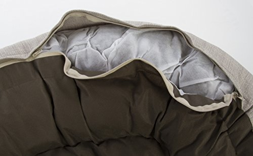 Sterling Premium Cooling Gel Memory Foam Pet Bed, Plush with Woven Linen, Beige by Sterling (Image #9)