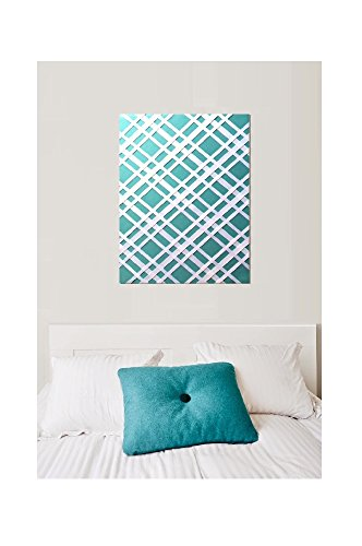 Bulletin-Memo Board and Picture Frame: Teal and White (Large (20