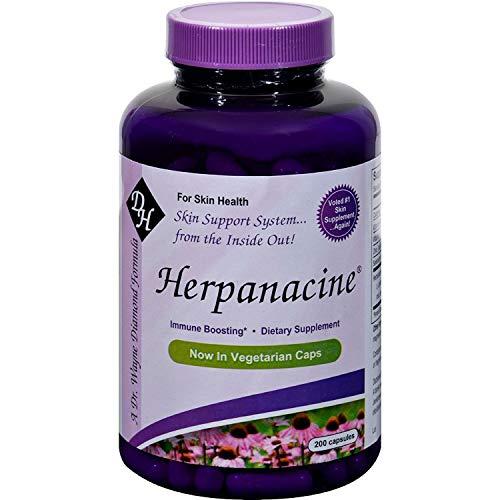 Diamond Herpanacine Natural Skin Support Supplement 200 capsules | for Complete Skin Health