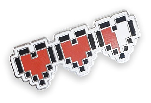 Forge Pixel Heart Retro Video Game 8 Bit Life Meter (1 Pin)