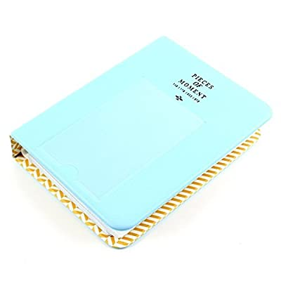 64 Pockets Photo Album for Mini Fujifilm Instax Mini 8 7s 25 50s 90 Polaroid & Name Card(Blue) Color: bluie, Model: