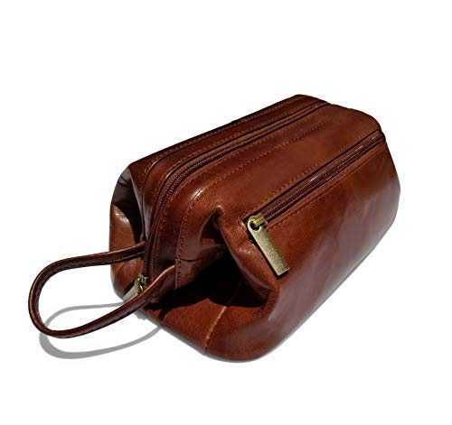Leather Toiletry Bag Dopp Kit Classic by Gent Supply