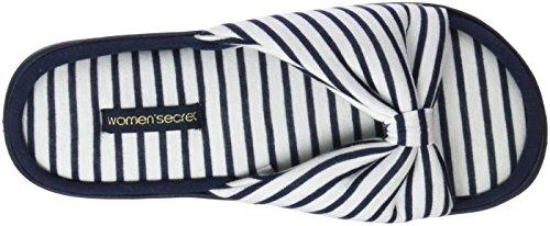 Knot Pantoufles Slprs women'secret Bleu Stripes 13 Azul Femme Da1 x1nwzOE