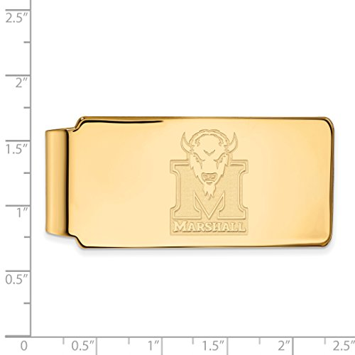 Yellow 14K MU Sterling w Marshall Collegiate Licensed Clip Silver University Money Plated Official LogoArt Gold EqEptwA