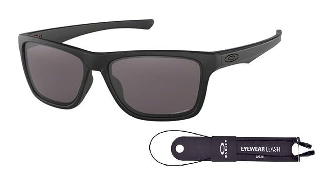 8e9de983ecc2 Amazon.com: Oakley Holston OO9334 933408 58M Matte Black/Prizm Grey  Sunglasses For Men+BUNDLE with Oakley Accessory Leash Kit: Clothing