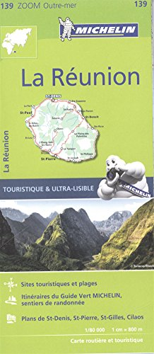 Michelin Zoom Reunion Map 139 (Michelin Zoom USA Maps) (French Edition)
