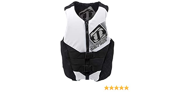 Jet Pilot Hybrid Vest White Mens Medium PFD CGA Neoprene Waterski Wakeboard Life Jacket
