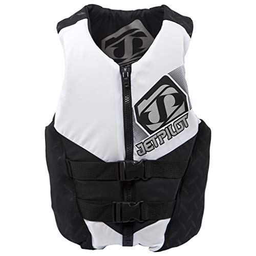 Jet Pilot Life Jackets - Jet Pilot Hybrid Vest White Mens XXL PFD CGA Neoprene Waterski Wakeboard Life Jacket