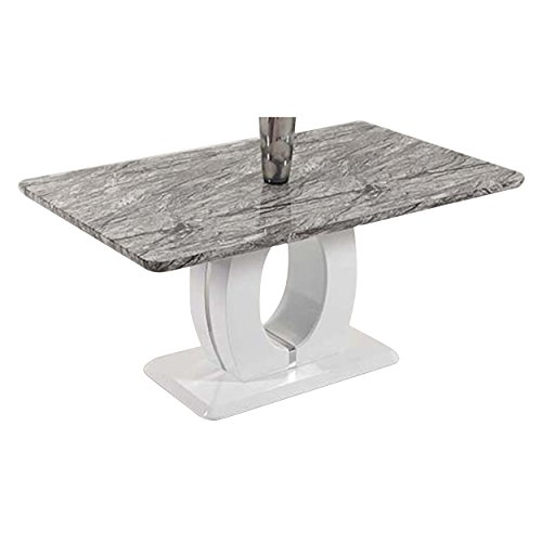 Milan SERENITY-DT Serenity Marble Like Dining (Marble Pedestal Dining Table)
