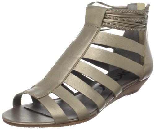 Dknyc Mujeres Fallyn Wedge Sandal Dark Gold