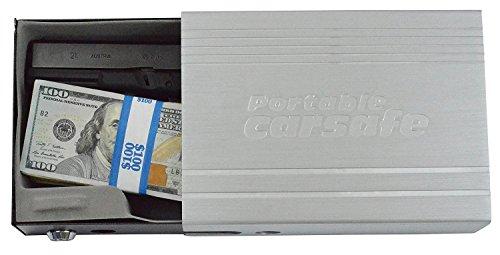 Yunanwa Portable Car Safe Box Handgun Safe Lock Vault Personal Vault Security Lock Box Cable by yunanwa (Image #1)