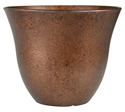"Classic Home and Garden Honeysuckle Patio Pot Garden Planter, 13"", Distressed Copper"