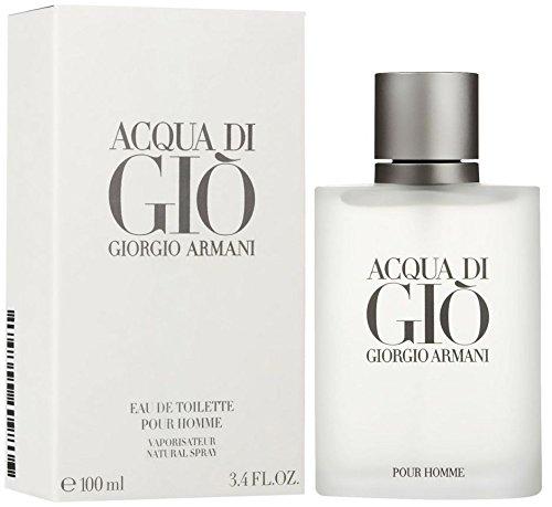 Acqua Di Gio Cologne Giorgio Armani (Giorgió Armáni Acqŭa Dì Gìo Còlogne For Men 3.3 oz Eau De Toilette Spray + a FREE Body Cream)