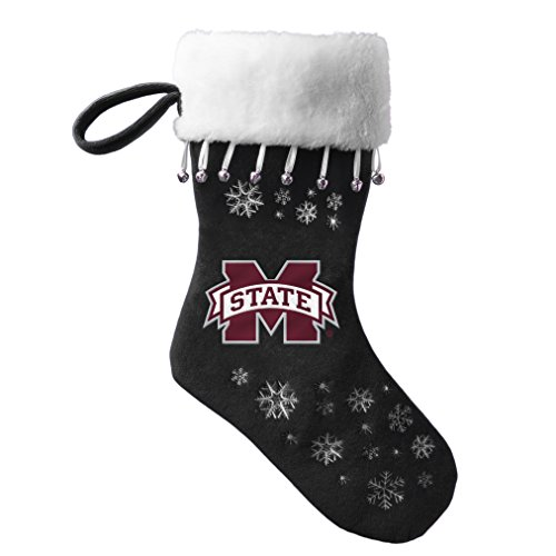 - NCAA Mississippi State Bulldogs Full Embroidered Snowflake Stocking