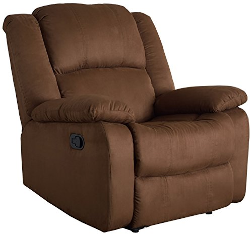 NHI Express Samantha Microfiber Recliner, Chocolate
