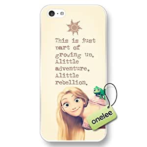 Disney Tangled Hard Plastic Phone Case for iPhone 5c - Personalized Disney Princess Rapunzel iPhone 5c Case & Cover - Transparent