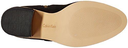 Calvin Klein Women's Camie Engineer Boot Black Suede Se3RU
