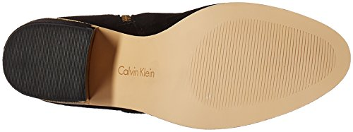 Calvin Boot Womens Klein Womens Calvin Black Suede Engineer Camie Klein rfrK1q