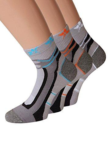 Damen Trekking Socken Set Trekkingsocken Damen Sportsocken Funktionssocken Joggingsocken, 6 Paar Gr. 39-42