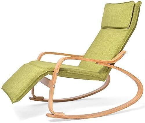 Chaise longue Comoda Sedia a Dondolo in Legno, Poltrona
