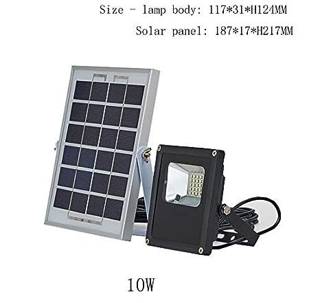 Q-fo Foco Proyector Solar LED For Exteriores, Luces De Seguridad ...