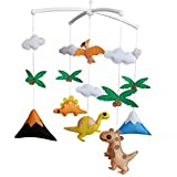 Baby Crib Toy With Arm [Dinosaur, Colorful] Musical Mobile