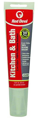 red-devil-0885-kitchen-bath-low-odor-silicone-sealant-clear-squeeze-tube-28-ounce