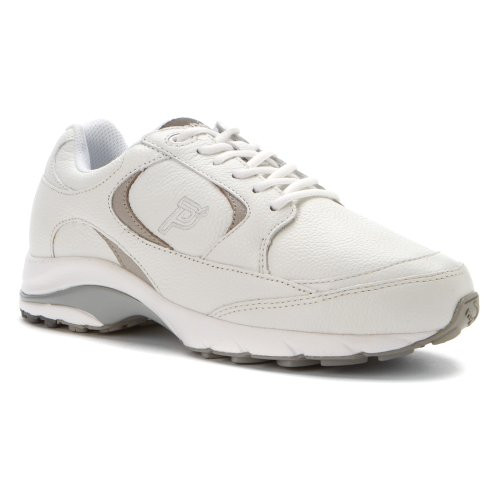 Propet Womens Journey Leather Shoe White/Silver