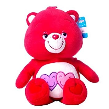 Amorosita Soft 24/30cm Osos amorosos peluche rojo con 2 corazones Care Bears - Calidad