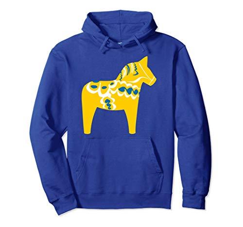 Dala Horse Hoodie Dalarna Swedish Sweden Sverige - Dala Dalarna Horse