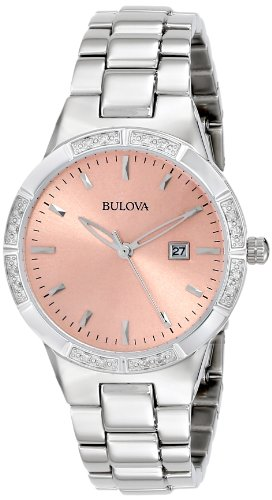 Bulova Women's 96R175 Diamond-Set Case Watch ()